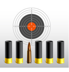 Target with bullets vector