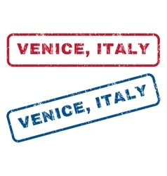 Venice Italy Rubber Stamps vector image vector image