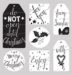 Winter tag set vector image
