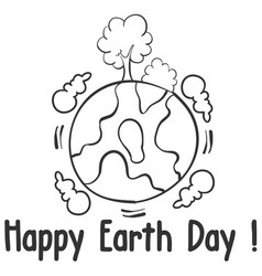world day design style hand draw vector image vector image
