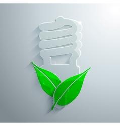 Glass Eco Icon vector image