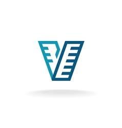 Letter V logo vector image