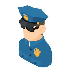 policeman icon isometric 3d style vector image