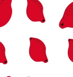 red lemons pattern vector image vector image