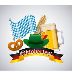 welcome oktoberfest vector image