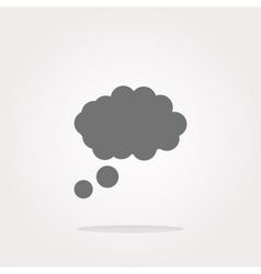 abstract cloud web icon button vector image vector image