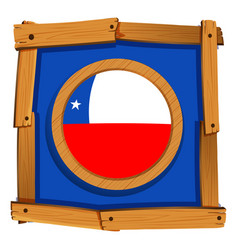 Badge design for chile flag vector
