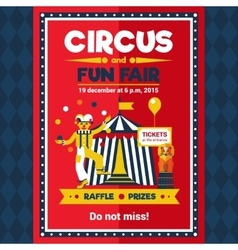 Circus Fun Fair Carnival Poster Red vector image vector image
