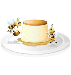 Custard and bees vector image vector image
