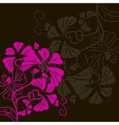 Flower on a black background postcard vector image