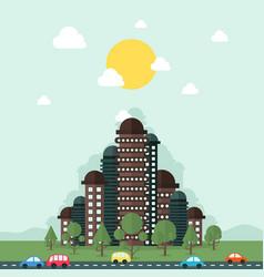 future city vector image vector image