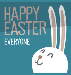 happy easter everyone easter bunny ears vector image vector image