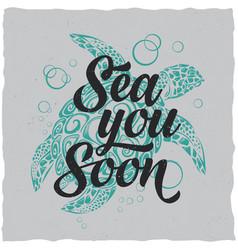 nautical t-shirt label design vector image vector image