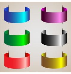 varicolored ribbons of silk set vector image