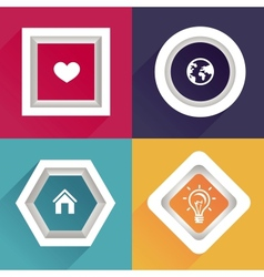 abstract frames with copy space vector image vector image