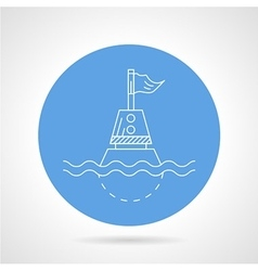 Blue icon for direction buoy vector image vector image