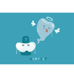 Die tooth vector image vector image