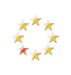 Golden stars vector