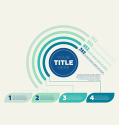 Pie chart 4 steps and circle header vector