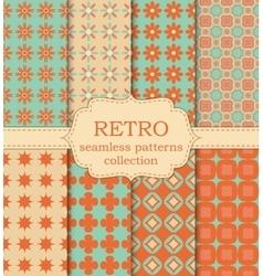 set of seamless retro patterns vector image