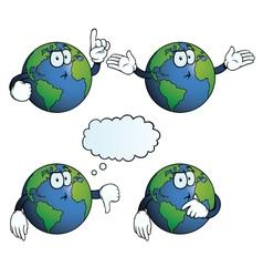 Thinking Earth globe set vector image vector image