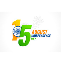 15 august independence day india card design vector