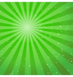Abstract green ray background vector