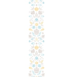 Abstract vintage ornamental tulips textile vector image