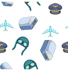 Air transport pattern cartoon style vector image