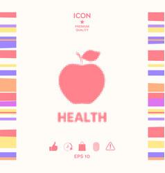 apple - halftone logo vector image