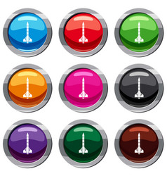 atomic rocket set 9 collection vector image