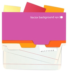 Background of an office stuff vector image