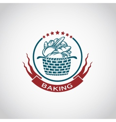 bakery label image vector image