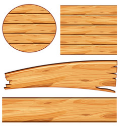 Board design with wooden board in different shapes vector