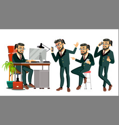 boss ceo character it startup business vector image
