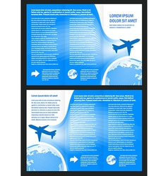 brochure design airplane flight tickets air fly vector image