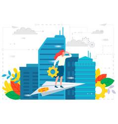 business ambitions employee leadership vector image