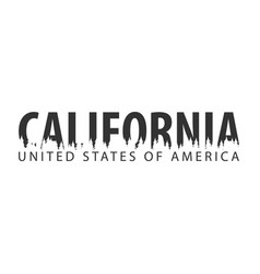 California usa united states of america text or vector