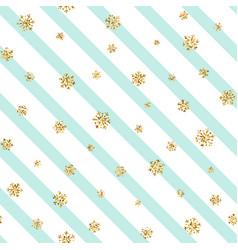 christmas gold snowflake seamless pattern vector image