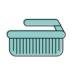 Cleaning brush isolated icon vector