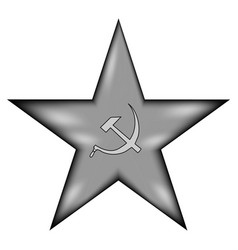 Communism star sign icon vector