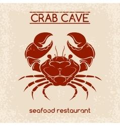 Crab seafood emblem template vector