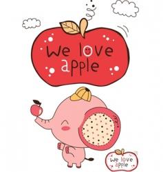 cute elephant card vector image