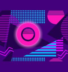 cyberpunk seamless pattern retro futurism vector image