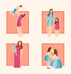 design element of mothers day for card vector image