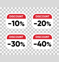 discount sale tags set badges templates vector image