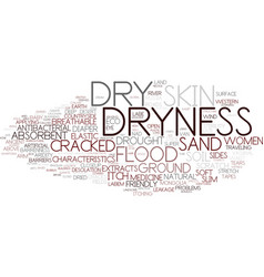 dryness word cloud concept vector image