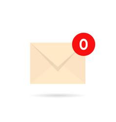 Empty inbox with zero mail vector