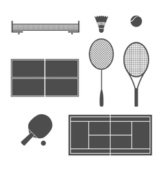 Equipment tennis vector image