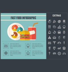 fast food infographic template and elements vector image